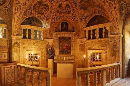[Obr. Kaple sv. Barbory - závěr kaple